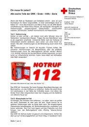 40-2008 Infos zur ersten Hilfe