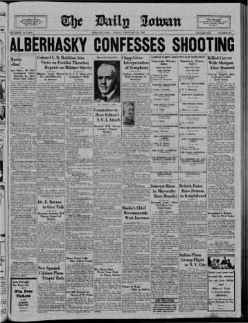 C! - The Daily Iowan Historic Newspapers - University of Iowa