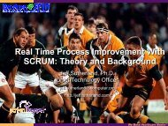 Real Time Process Improvement With SCRUM ... - Boston SPIN