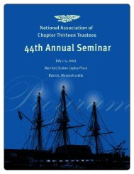 To Our Distinguished - National Association of Chapter 13 Trustees