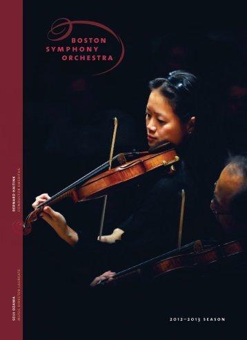 2012–2013 season - Boston Symphony Orchestra