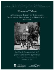 Women of Talent - University of Massachusetts Boston
