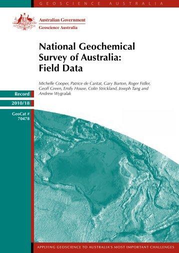 National Geochemical Survey of Australia: Field Data - Geoscience ...