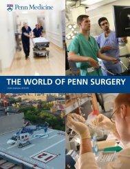 THE WORLD OF PENN SURGERY - Penn Medicine - University of ...