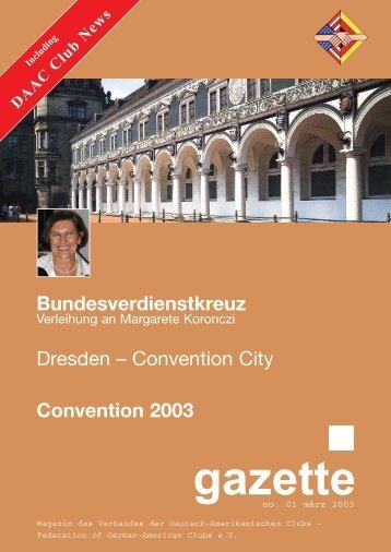 Convention 2003 - Verband der Deutsch-Amerikanischen Clubs