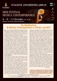 MINI FESTIVAL MUSICA CONTEMPORANEA Palazzo dei ... - Fermo