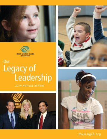 Legacy of Leadership - Boys and Girls Clubs of Boston
