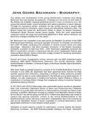 English Biography (PDF, 70KB) - Jens Georg Bachmann