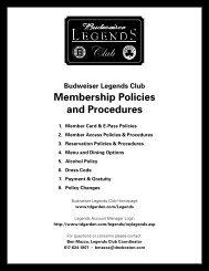 Membership Policies and Procedures - TD Garden