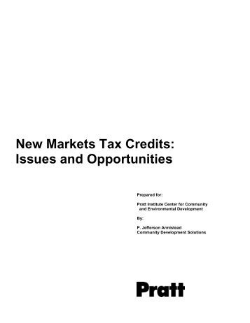 New Markets Tax Credits: Issues and Opportunities - Pratt Center for ...