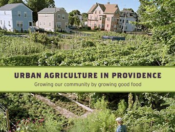 urban agriculture in providence - Rhode Island Department of ...