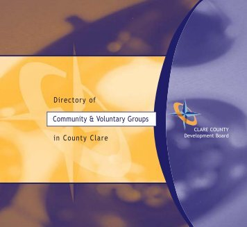 Directory Of Community & Voluntary Groups - Clare County Library