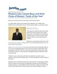 Roxbury teen named Boys and Girls Clubs of Boston 'Youth of the ...