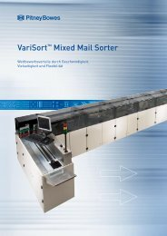 VariSort™ Mixed Mail Sorter System Spezifikationen - Pitney Bowes