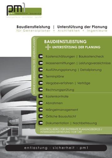 Unterstützung der Planung BAUDIENSTLEISTUNG