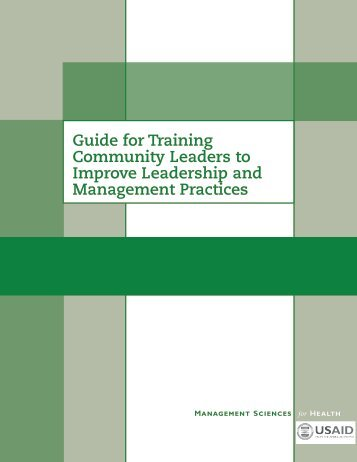 Guide for Training Community Leaders to Improve Leadership - The ...