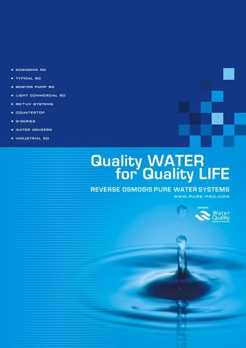 Quality WATER for Quality LIFE