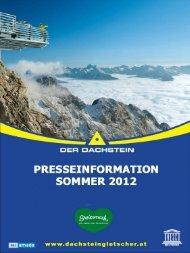 Pressemappe Dachstein Sommer 2012 - Planai & Hochwurzen