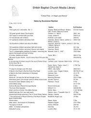 Shiloh Baptist Church Media Library
