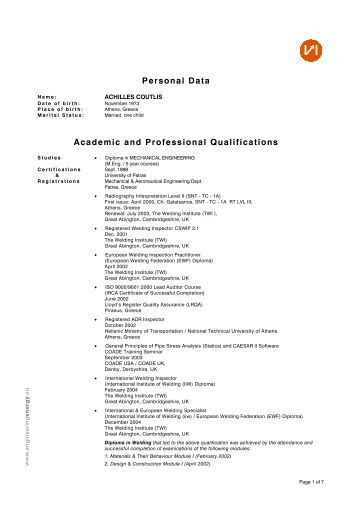 Academic and professional writing examples