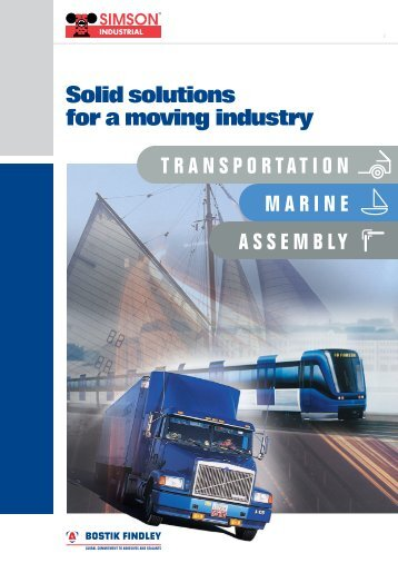 Solid solutions for a moving industry TRANSPORTATION MARINE ...