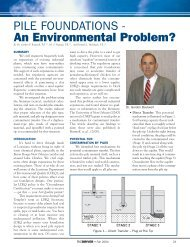 PILE FOUNDATIONS - An Environmental Problem? - Pile Driving ...