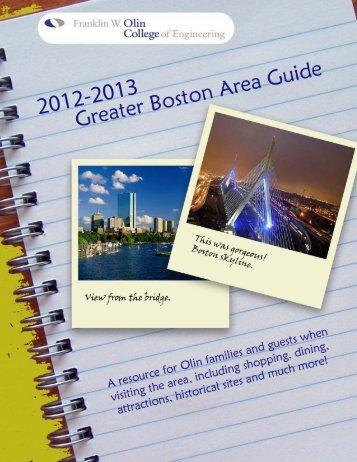 Greater Boston Area Guide - Olin College