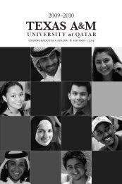 undergraduate catalog edition 132q - Texas A&M University at Qatar