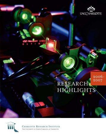 Annual Report 2006-2007 - Charlotte Research Institute - University ...