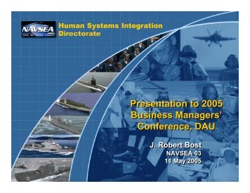 Presentation to 2005 Business Managers' Conference, DAU ...