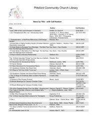 Library Catalog.pdf - Pittsford Community Church