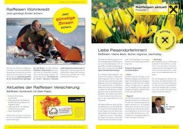 Gutschein - Raiffeisenbank Piesendorf