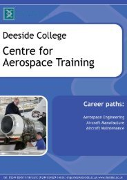 FdEng Aeronautical Engineering - Deeside College Centre for ...