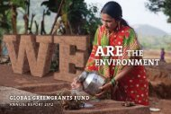 2012 Annual Report - Global Greengrants Fund