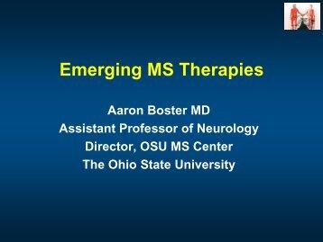 Emerging MS Therapies - Michigan Neurological Association