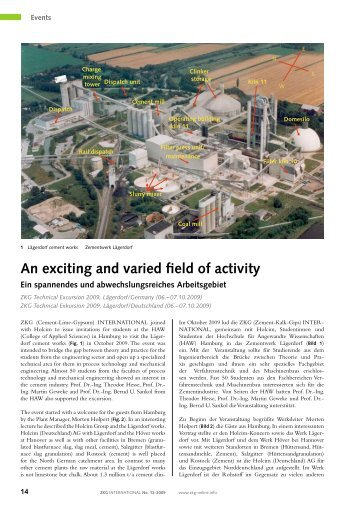 An exciting and varied field of activity - ZKG International • Cement ...
