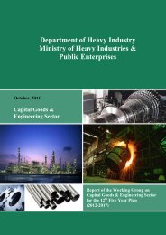 Report of the Working Group on Capital Goods & Engineering ...