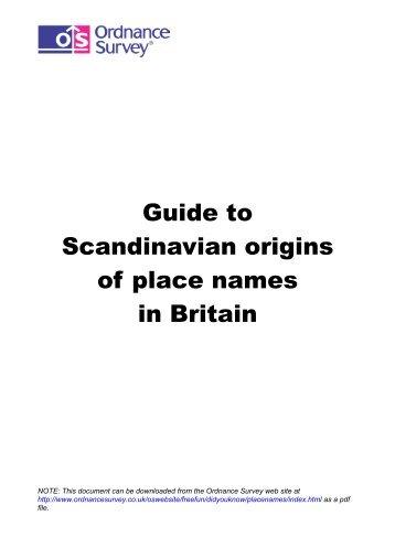235 Kb PDF: Guide to Scandinavian origins of ... - Ordnance Survey