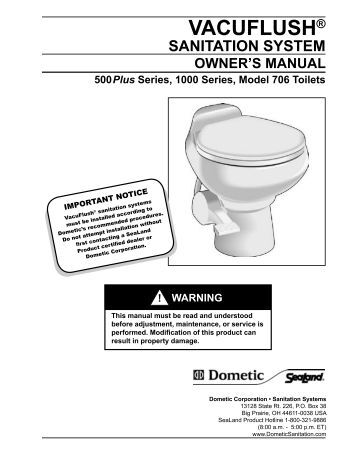 Dometic toilet Manuals