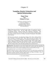 Chapter 12 Sampling, Density Estimation and Spatial Relationships