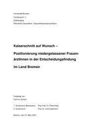 Magisterarbeit Wunschkaiserschnitt Schach - IPP - Universität Bremen