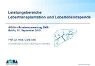 Lebertransplantation Vortrag: Prof. Dr. med. Gerd Otto - SQG