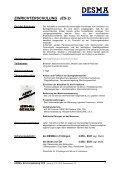 Schulungskatalog 2012 - bei der DESMA - Seite 7