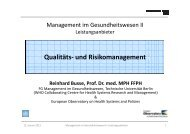 2012.01.12_ RB _Qualitaet_Risikomanagement - Fachgebiet ...