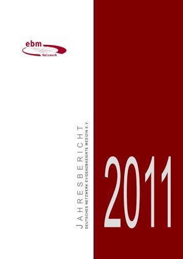 Jahresbericht 2011 - Deutsches Netzwerk Evidenzbasierte Medizin eV