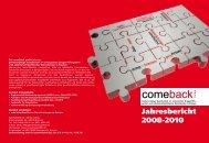 Jahresbericht 2008-2010 (PDF) - comeback GmbH
