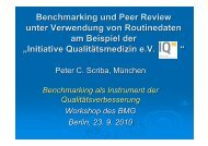 Benchmarking und Peer Review unter Verwendung von Routinedaten