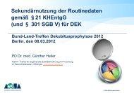 PD Dr. Günther Heller Sekundärnutzung der Routinedaten ... - SQG