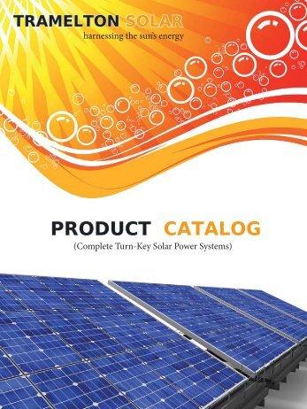 PRODUCT CATALOG - Tramelton Solar