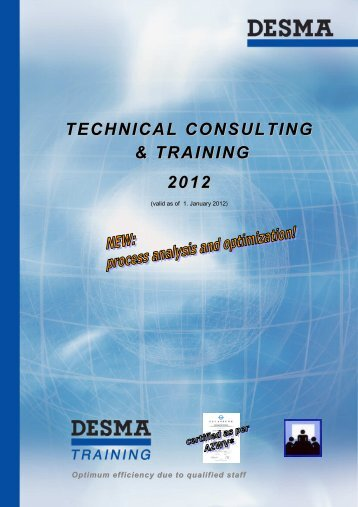 Training catalogue 2012 - bei der DESMA